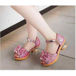 Giày Sandal Cao Gót Bé Gái SD34100