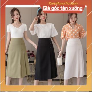 [follow shop] Chân váy công sở dài xếp ly cực sang - RumHana CV01 - CV01 thumbnail