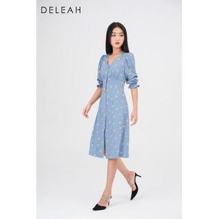 De Leah - Đầm Ôm A Tay Lỡ Nhún Li Ngực - Thời trang thiết kế - VL2029093X thumbnail