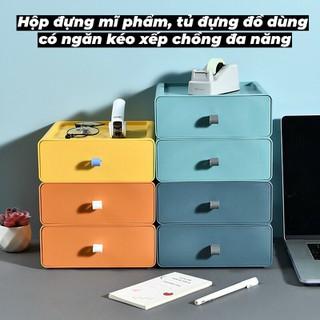 [RẺ VÃI CHƯỞNG] Hộp đựng mĩ phẩm đồ dùng cá nhân tủ đựng đồ dùng có ngăn kéo xếp chồng đa năng - QQ0070ZX5 thumbnail