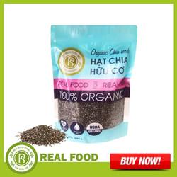 Túi hạt chia hữu cơ Mỹ Thương hiệu Real Food Store (1Kg/Túi) - Sản phẩm bổ sung Omega-3-Vitamin-Protein và các khoáng-chất giúp cơ thể chống-oxy-hóa giảm nguy cơ mắc tiểu đường tốt cho tim mạch và giảm cân