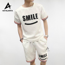 Bộ quần áo thể thao nam 4AT - BTT - 204 năng động - Logo MĨM CƯỜI - 4ATALANTA