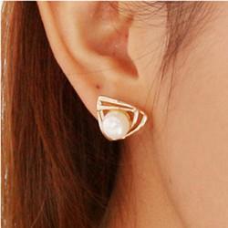 Bông tai hạt bẹt đơn giản siêu thời trang