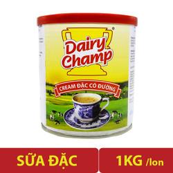 Sữa đặc có đường Dairy Champ lon lớn 1kg có nắp đậy siêu tiết kiệm siêu tiện lợi