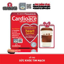 Thực phẩm bảo vệ sức khỏe CARDIOACE - Hỗ trợ sức khỏe tim mạch - HÀNG CHÍNH HÃNG - CÓ TEM CHÍNH HÃNG - Hộp 30 viên - KÈM QUÀ TẶNG