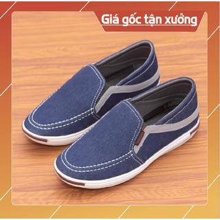 Giày nam giày lười nam chất liệu vải bò cao cấp size 38 đến 43(L24) - GIÀY NAM L24 thumbnail