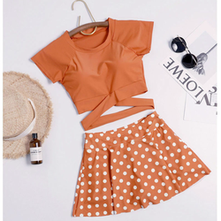 Bikini 2 Mảnh, Áo Tắm, Đồ Bơi Dạng Quần Váy Thời Trang Đi Biển