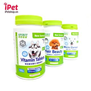 Viên Bổ Sung Dinh Dưỡng Cho Chó Mèo Spirit Canxi Khoáng Đẹp Lông Da Vitamin - iPet Shop - SP000796 1