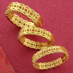 Nhẫn Nữ, Nhẫn Nam Kim Tiền Tài Lộc May Mắn Vàng Non 10k, 18k, 24k (Không Bị Xỉn Đen) – Trang Sức Hava Hong Kong