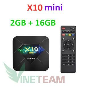Tivi box X10. mini pro android 9.0 r-tv box plus 6k - DC4330 thumbnail