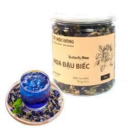 Hộp 50gr trà hoa đậu biếc giảm cân chăm sóc sức khỏe, nấu râu câu, nấu xôi làm màu tự nhiên