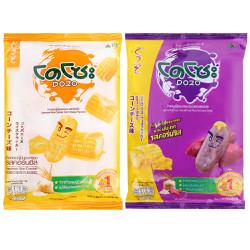 Combo 2 bánh gạo vị phô mai Bắp và Khoai Lang Dozo gói 56g x 2 gói – Đồ ăn vặt Thái ngon bổ rẻ