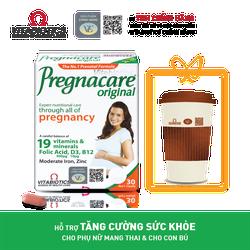 Thực phẩm bảo vệ sức khỏe PREGNACARE Original – Hỗ trợ Tăng cường sức khỏe cho Phụ nữ mang thai & cho con bú - HÀNG CHÍNH HÃNG - CÓ TEM CHÍNH HÃNG - Hộp 30 viên - KÈM QUÀ TẶNG