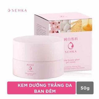Kem dưỡng trắng da ban đêm Senka White Beauty Glow Gel Cream 50g - KDSenka thumbnail