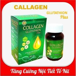 [Combo 2 hộp] Viên uống đẹp da Collagen Glutathion Plus - thành phần sâm tố nữ 300mg, Isoflavons200mg Giúp tăng cường nội tiết tố, hết nám, sạm da, đẹp da