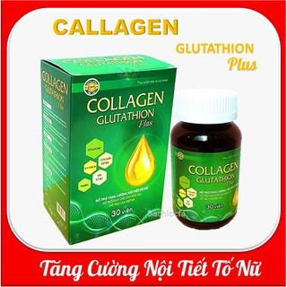 [combo 2 hộp] Viên uống đẹp da Collagen Glutathion Plus - thành phần sâm tố nữ 300mg, Isoflavons200mg Giúp tăng cường nội tiết tố, hết nám, sạm da, đẹp da - [combo 2 hộp] Viên uống đẹp da Collagen Gluta thumbnail