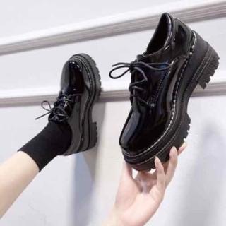 boots cổ thấp da bóng - 181004 thumbnail