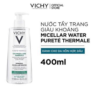 Nước Tẩy Trang Vichy Mineral Micellar Water Pureté Thermale Cho Da Hỗn Hợp Và Da Bóng Dầu 400ml - 3337875674447 3
