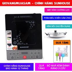 Bếp Từ Sunhouse SHD6152 Bộ chính hãng có kèm Nồi Lẩu + Tặng bộ nhả kem đánh răng 3 cốc