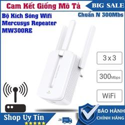 Bộ Kích Sóng Wifi 3 Râu Mercusys MW300RE Cực Khỏe , Thu Phát Sóng Tốc Đô Cao , Ổn Định