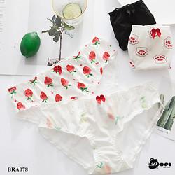 (BRA078) Quần lót nữ vải lụa quần chíp nữ đồ lót mềm mại cao cấp phối ren gợi cảm