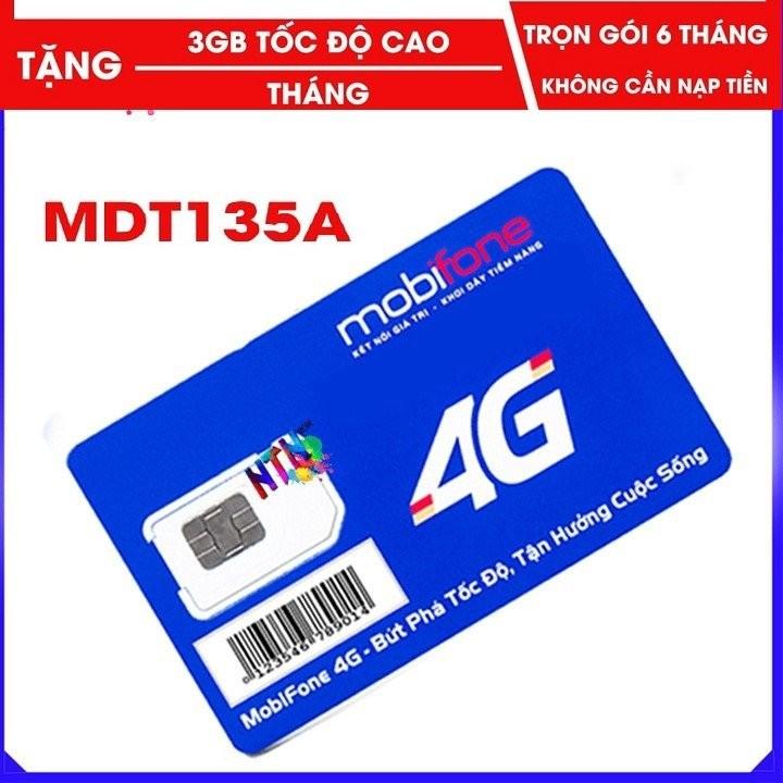 Sim 4G trọn gói 6 tháng -sim Mobi  MDT135A