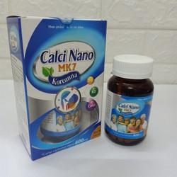 Viên uống bổ sung Calci Nano MK7 Koreanna – Giúp phát triển chiều cao ở trẻ, giảm loãng xương ở người lớn- thành phần Calci 600mg-.Hộp 30 viên