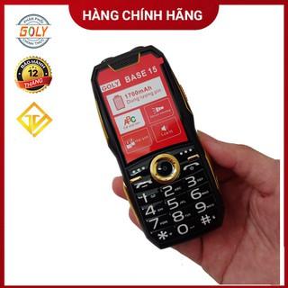Điện thoại Goly base 15 Black Phím số to, Loa lớn , Pin Trâu - Hàng chính hãng - Goly base 15 black thumbnail