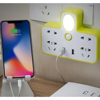 Ổ Cắm Điện Phát Sáng Tích Hợp 2 Cổng Sạc USB - Ổ Cắm Điện Phát Sáng Tích Hợp 2 Cổng Sạc USB thumbnail