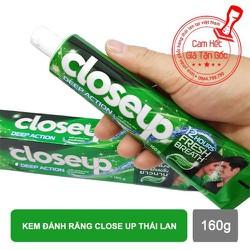 Kem đánh răng Closeup Thái Lan cho hơi thở thơm mát cao cấp