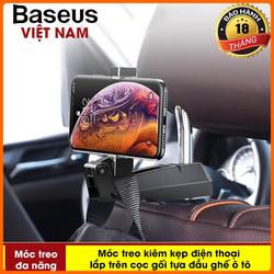 Phụ kiện ô tô - Móc treo đa năng Baseus vào Ghế Sau Xe hơi dùng treo đồ Giữ Điện Thoại Cho các dòng smartphone - Phân phối bởi TopLink