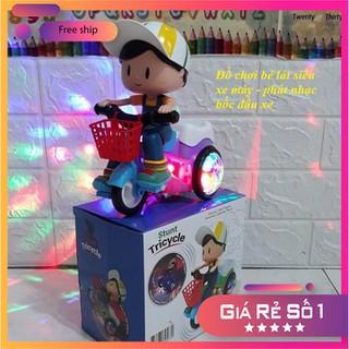Quà Trung Thu cho bé- Em bé lái xe phát nhạc có đèn quay xe - Quà Trung Thu cho bé thumbnail