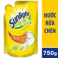 Nước rửa chén Sunlight Chanh 100 túi 750g