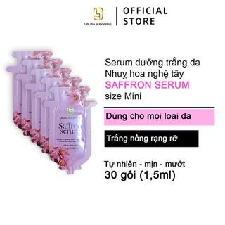 Serum dưỡng trắng tinh chất Nhuỵ hoa nghệ tây Laura Sunshine Saffron Serum Mini 45ml ( 30 gói x 1,5ml ) Nhật Kim Anh - SAFRRON-SEURM-MINI thumbnail