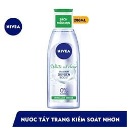 Nước tẩy trang kiểm soát nhờn Nivea White Oil Clear 200ml