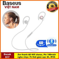 Tai Nghe không dây - Tai nghe thể thao - Baseus S17 Cho Điện Thoại iPhone, Samsung, các loại smartphone công nghệ Bluetooth 5.0 Âm thanh 6D HIFI, siêu Bass tích hợp mic đàm thoại, pin lâu nghe nhạc 7h, chống nước