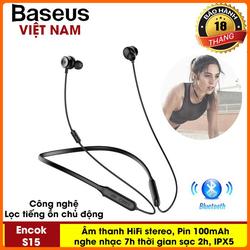 Tai nghe siêu cấp Baseus S15 công nghệ Kiểm Soát chống ồn chủ động âm thanh vượt trội, siêu bass, pin lâu nghe nhạc liên tục 7h, kết nối Bluetooth 5.0 , chông nước chuẩn ipx5 - Phân phối bởi TopLink
