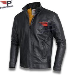 Áo Khoác da nam lót lông thu đông thời trang Pigofashion cao cấp ADN26 - Đen