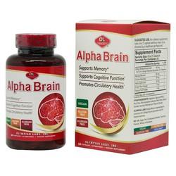 """Alpha Brain – Sản phẩm """"Vàng"""" Hỗ trợ tuần hoàn não – Cải thiện trí nhớ hiệu quả - Hộp 60 viên"""