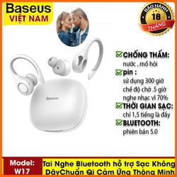 Tai Nghe Thể Thao Bluetooth hỗ trợ Sạc Không Dây Chuẩn Qi Cảm Ứng Thông Minh IP55 Chống Thấm Nước encok true wireless earphones w17