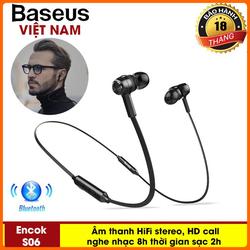 Tai Nghe không dây kiểu thể thao Baseus S06 Cho Điện Thoại iPhone, Samsung, Và các loại smartphone công nghệ Bluetooth 4.1 Âm thanh HIFI stereo, siêu Bass tích hợp mic đàm thoại, pin lâu nghe nhạc 8h