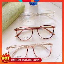 Gọng kính mắt tròn to chất nhựa dẻo thời trang nữ 8241
