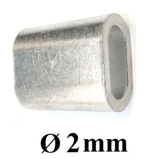Cốt đầu nhôm khóa cáp [ 2mm ] - cotnhom2 thumbnail