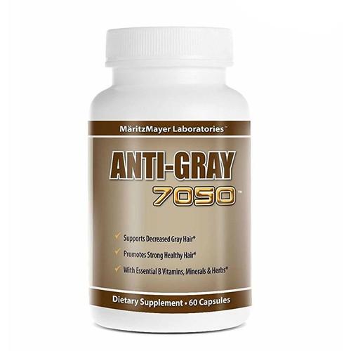 Viên uống trị bạc tóc sớm justified laboratories anti-gray hair 7050  của mỹ hộp 60 viên