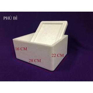 thùng xốp fuji 2 5 lít đựng đá hải sản hoa quả đóng đồ cấp đông trồng cây nuôi cá - F025 thumbnail