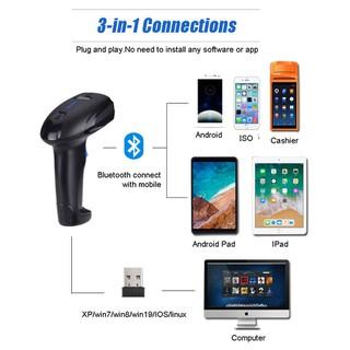 Máy quét mã vạch YHD 1100CB kết nối Bluetooth 2.4G Có dây tia CCD quét giấy in nhiệt cực nhạy hỗ trợ Kiểm Hàng - YHD-1100CB thumbnail