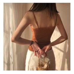 Áo 2 Dây Nữ Đẹp Dáng Dài Đi Biển Sang Chảnh Màu Đen Da Nâu Tây - Shop Đồ Lót Nữ Đẹp Gần Đây
