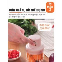 Máy Xay thịt mini KHÔNG DÂY, máy xay tỏi, hạt khô, xay sinh tố, xay thịt,rau củ quả các loại
