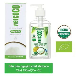 Dầu dừa nguyên chất Organic Vietcoco chai vòi 250ml - Dừa vòi 250 thumbnail