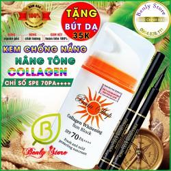 [SPF 70 PA++] Kem chống nắng collagen whitening sun block (nâng tông không cần make up)